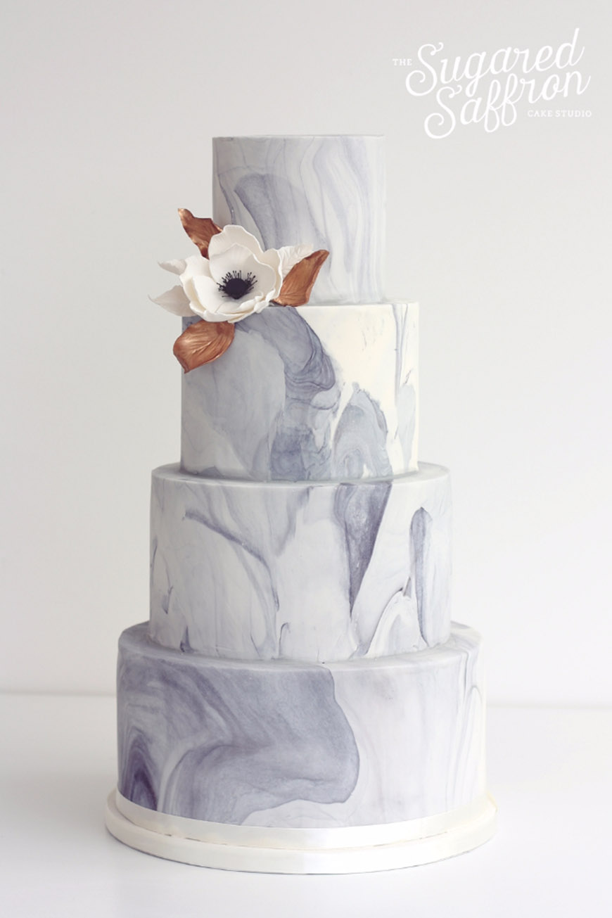 Wedding Ideas By Pantone Colour: Harbor Mist - Wedding cake | CHWV
