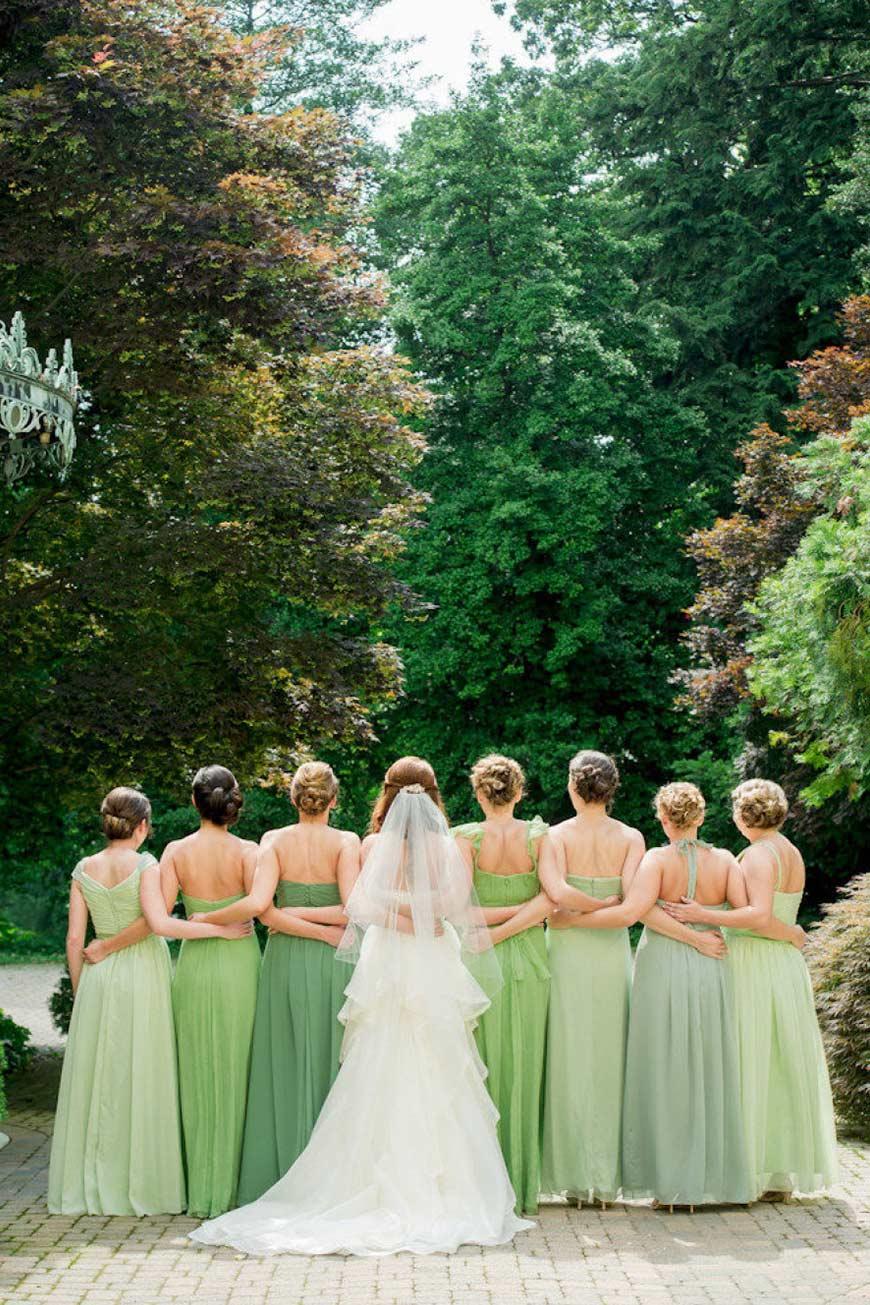 Wedding Ideas By Colour: Green Bridesmaid Dresses | CHWV
