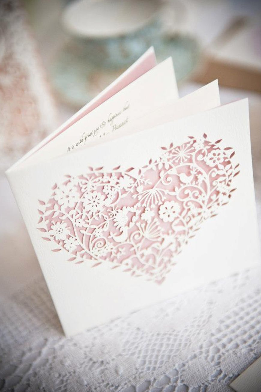 Wedding Ideas By Colour: Pink Wedding Invitations - Pretty pastels | CHWV