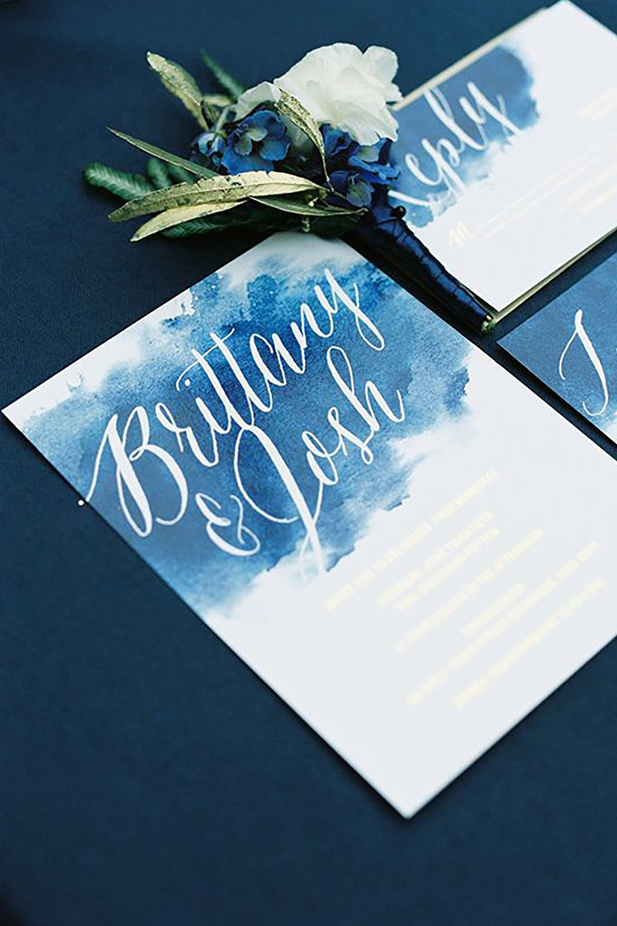 On-Trend Wedding Stationery For 2018 - Watercolour | CHWV