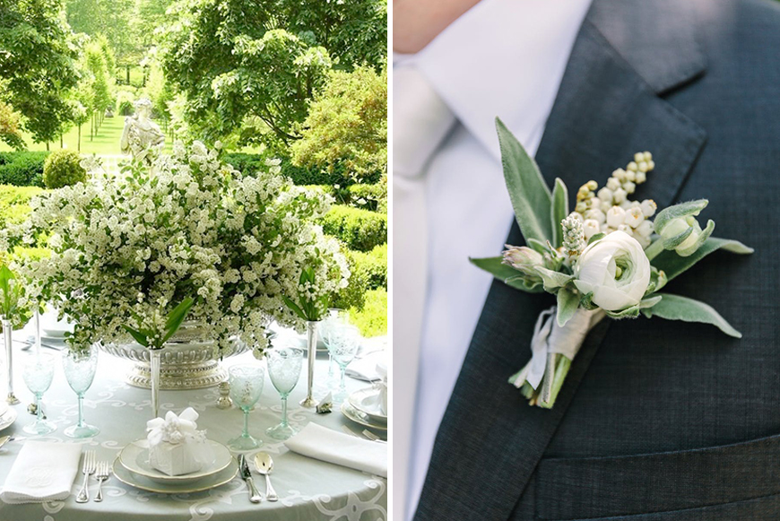 Lily of the Valley white wedding flowers