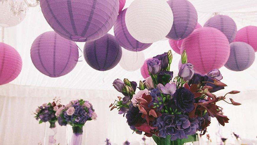 Wedding Ideas By Colour: Purple Wedding Decorations - All about decor | CHWV