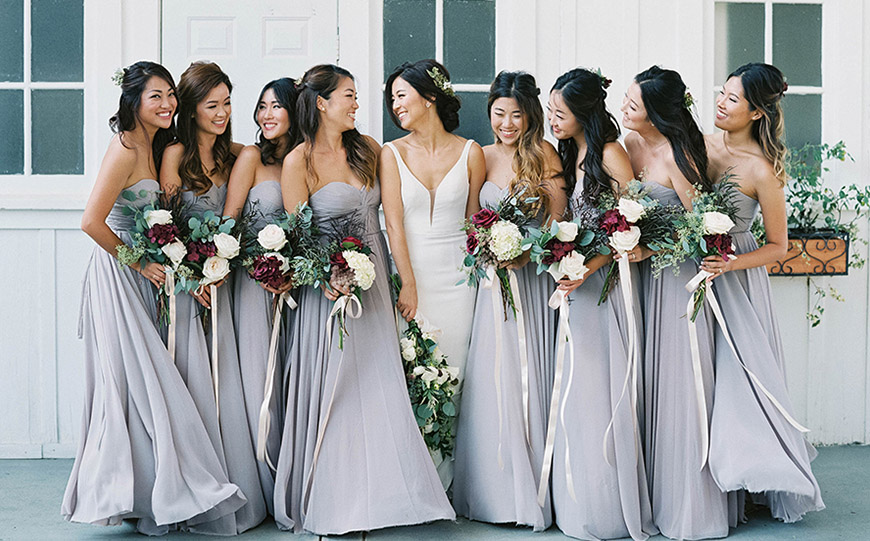 Wedding Ideas By Pantone Colour: Harbor Mist - Bridesmaids dresses | CHWV