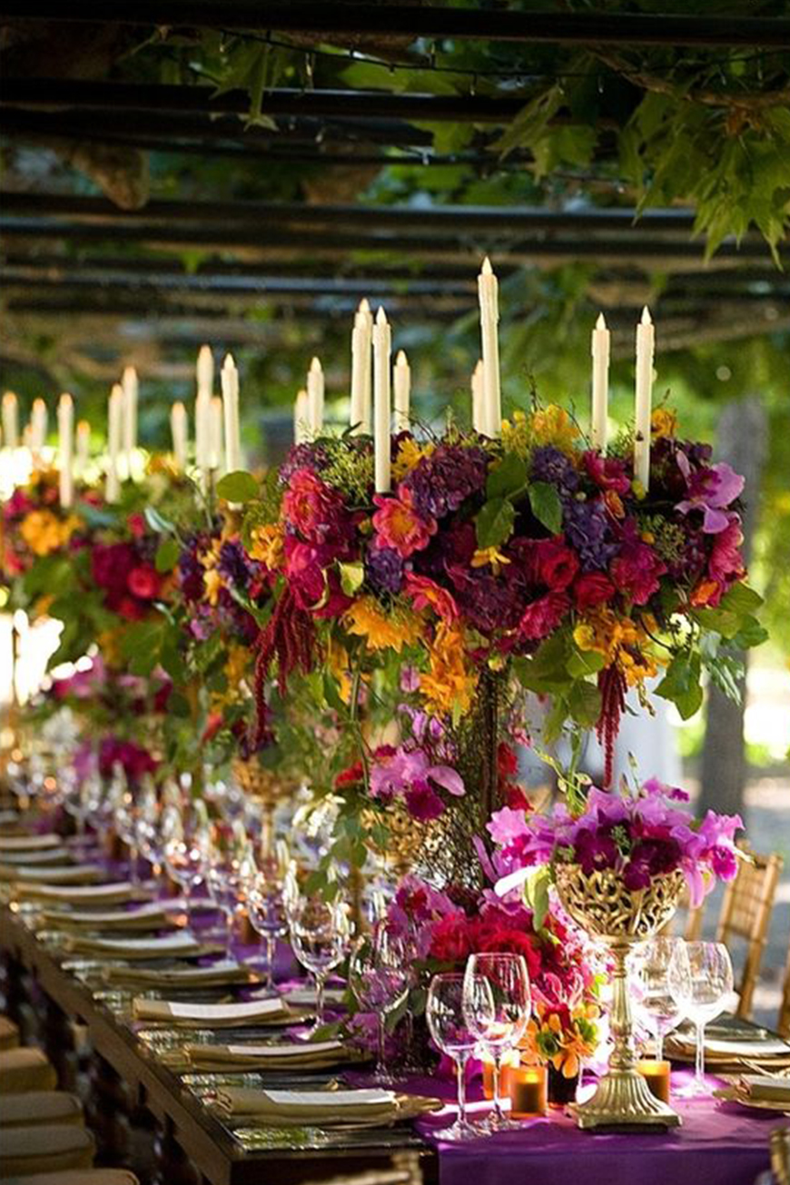 Wedding Ideas By Pantone Colour: Ultra Violet - Flowers, cakes and more | CHWV