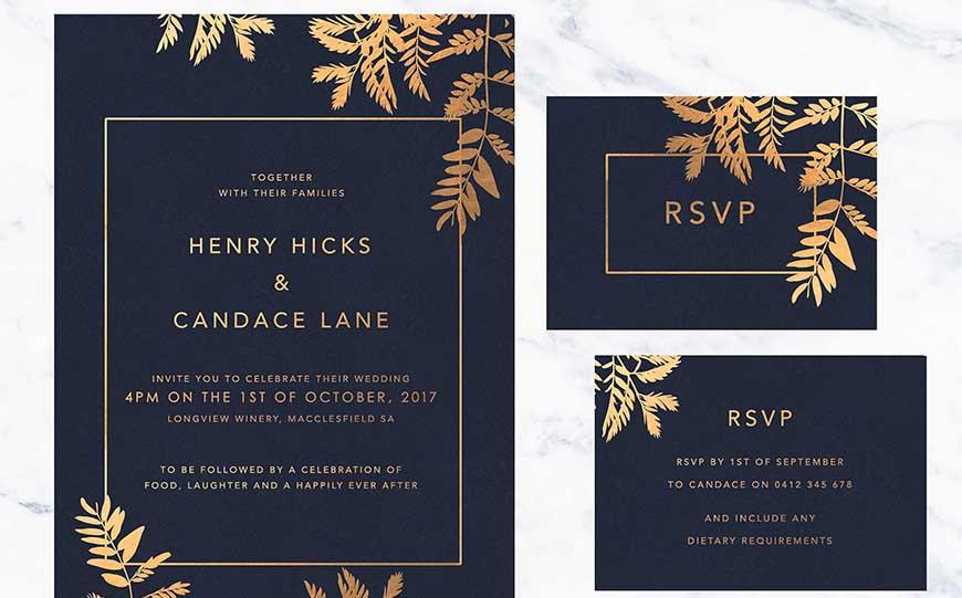 Wedding Ideas By Colour: Navy Wedding Stationery | CHWV