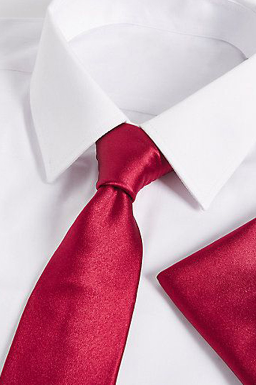 Wedding Ideas By Colour: Red Groom's Accessories - Ties and pocket accessories | CHWV