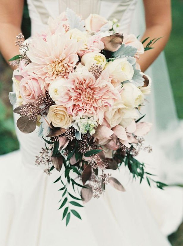 Wedding Ideas By Colour: Rose Gold Wedding Theme - All about flowers | CHWV