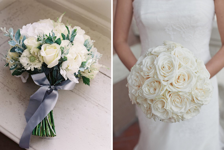 Ultimate wedding flowers in white are Roses
