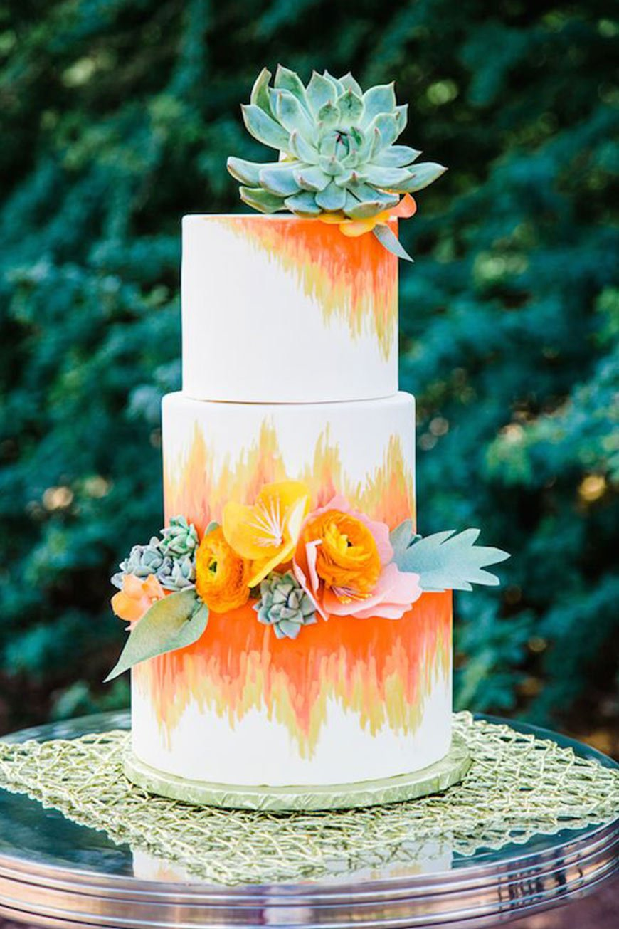 Wedding Ideas By Colour: Orange Wedding Decorations - Cake | CHWV