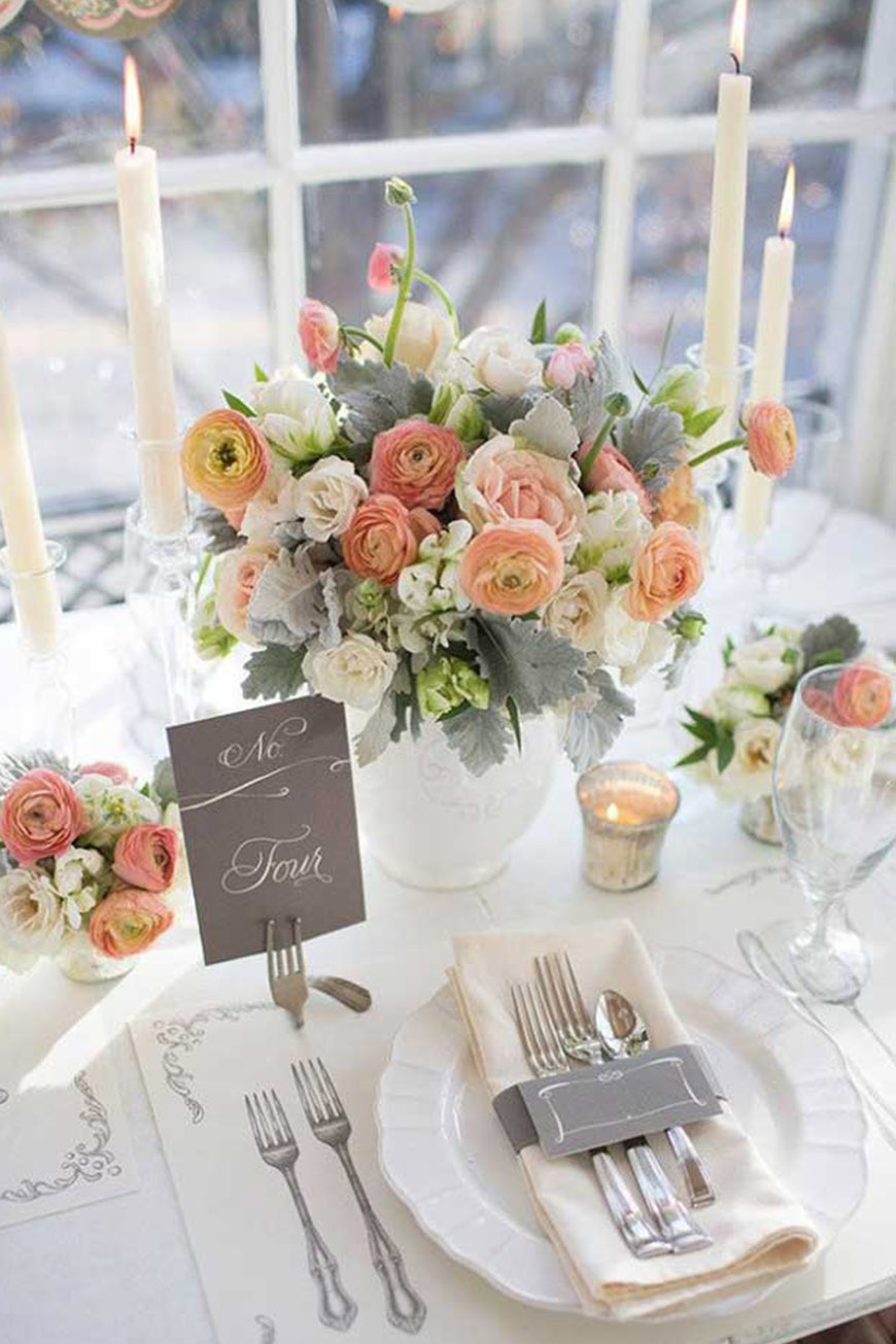 Wedding Ideas By Pantone Colour: Harbor Mist - Foliage | CHWV