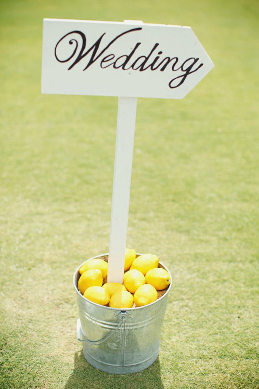 Wedding Ideas By Colour: Lemon Yellow Wedding Ideas - Sign | CHWV