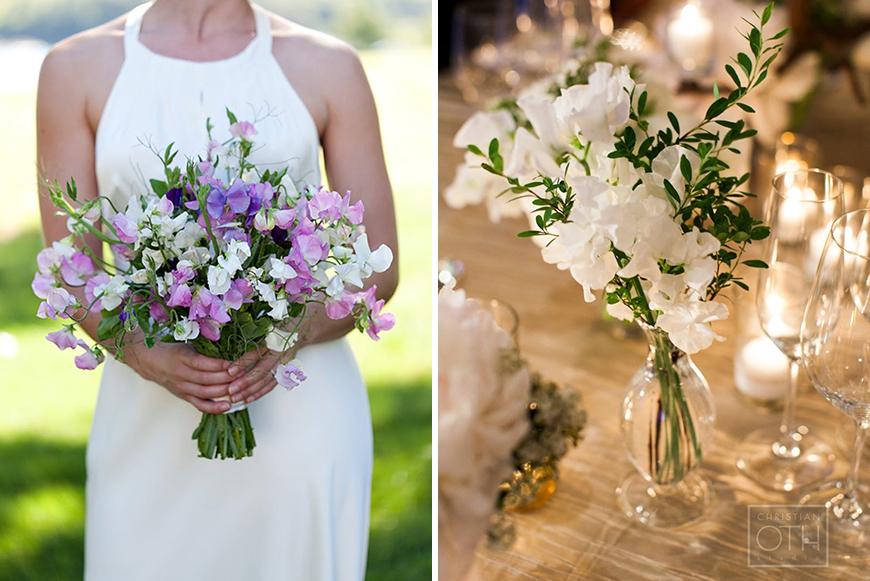 Sweet Pea white wedding flowers