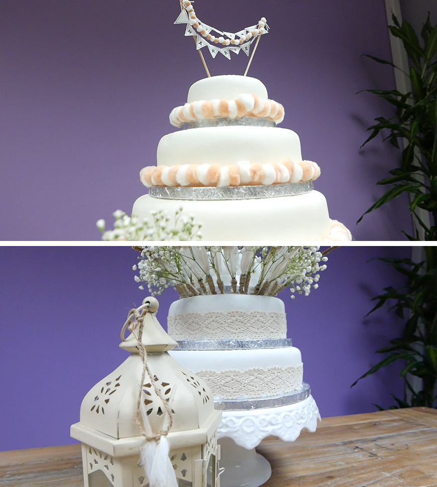 Simple 2nd Wedding Ideas: Amazing DIY Wedding Cakes For Under £100
