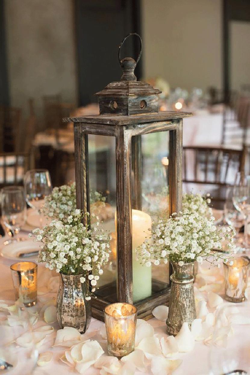 18 Amazing Lantern Centrepiece Ideas - Rustic romance | CHWV