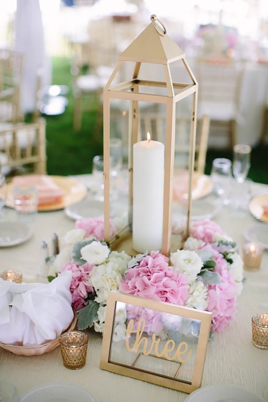 Gold Centerpiece Lanterns : Amazing lantern centrepiece ideas chwv
