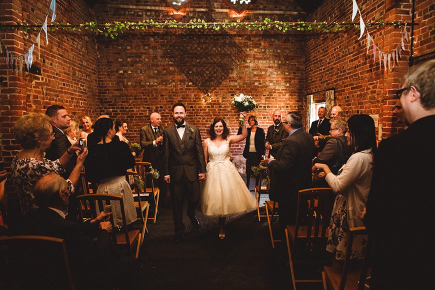 Real Wedding  – Ami and Adam's Cute And Quirky Wedding At Curradine Barns | CHWV