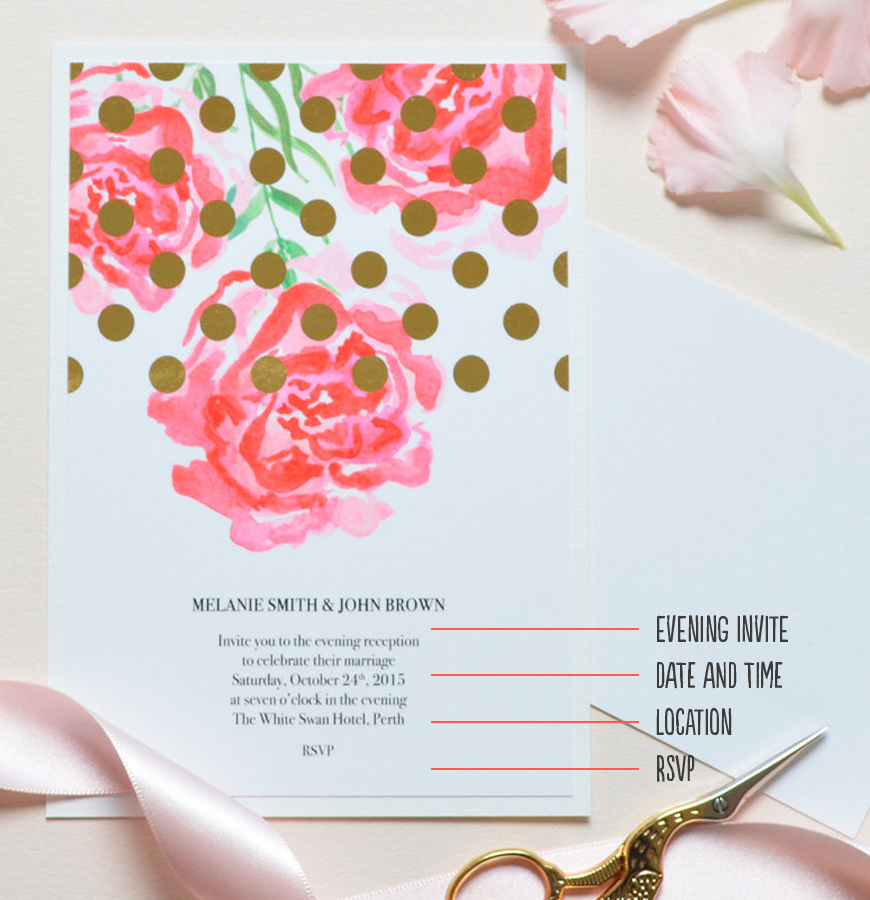 Evening wedding invitations wedding invitation wording chwv wedding invitation wording evening invitations chwv filmwisefo Choice Image