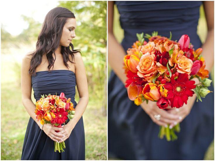 Autumn colour scheme orange chwv for Fall wedding dress colors