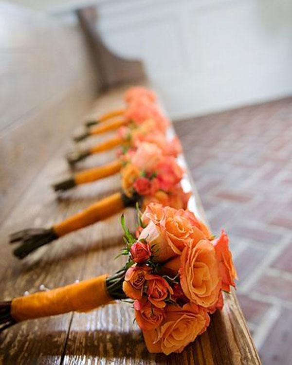 Orange Flower Arrangements For Weddings: Autumn Colour Scheme: Orange