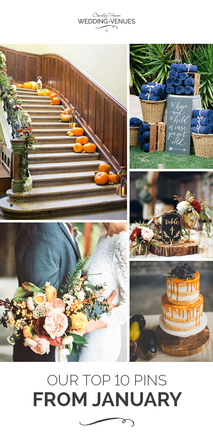 Autumn weddings Pinterest board | CHWV