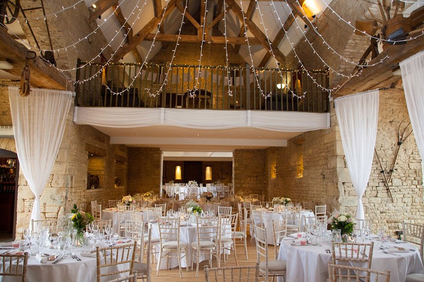 7 Barn Wedding Venues In The Cotswolds That You're Bound To Fall In Love With - The Great Tythe Barn | CHWV