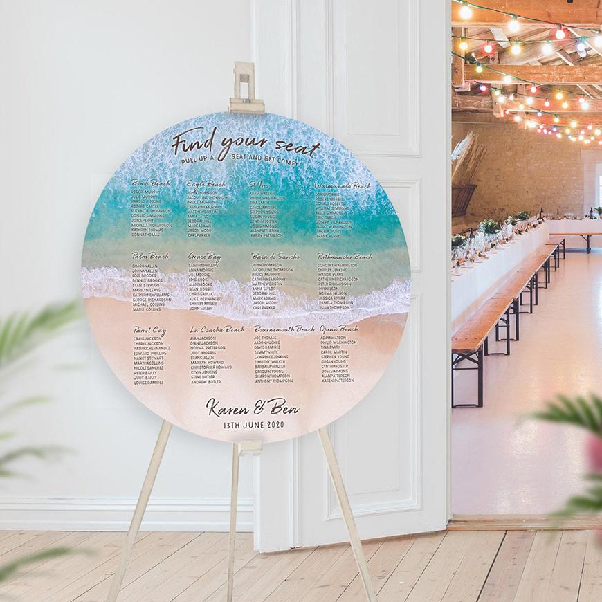 30 Amazing Wedding Table Name Ideas - Sun, sea and sand | CHWV