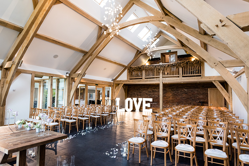 11 Beautiful Barn Wedding Venues - Mythe Barn | CHWV