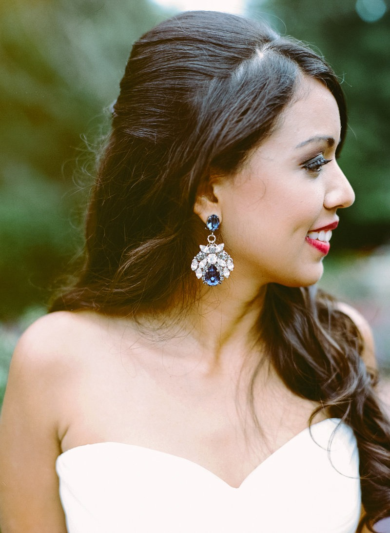11 Beautiful Ideas for Something Blue - Earrings | CHWV