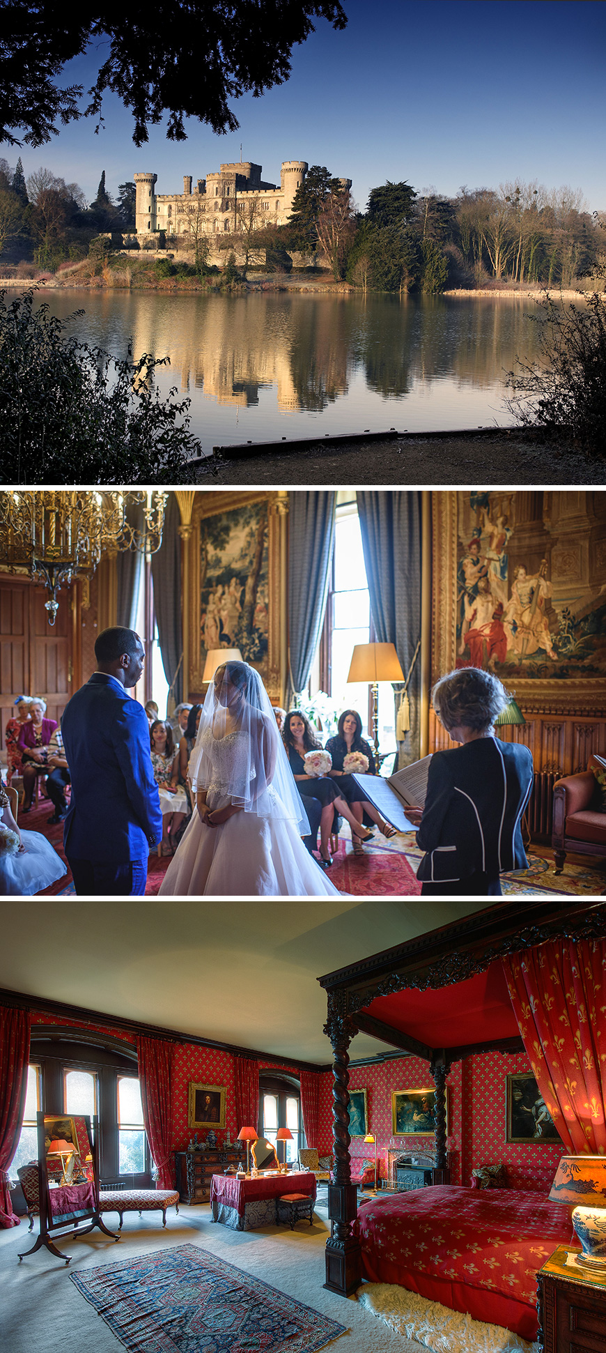Beauty and the beast themed wedding ideas - Eastnor Castle | CHWV