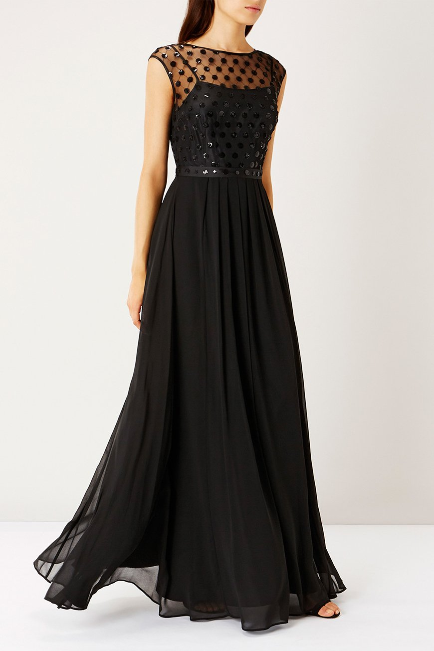 Black bridesmaid dresses chwv for Dresses for wedding bridesmaid