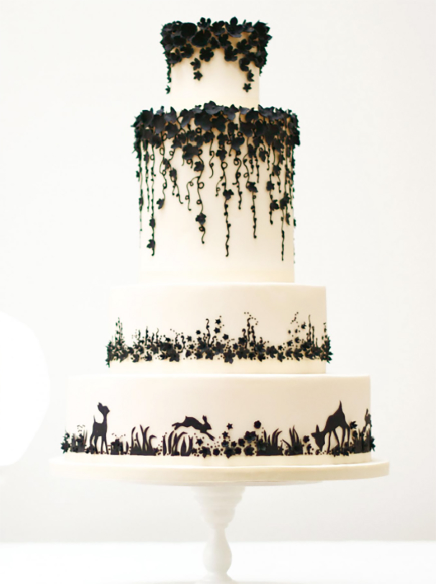 black and white themed wedding cakes black and white wedding theme wedding ideas by colour chwv 11842