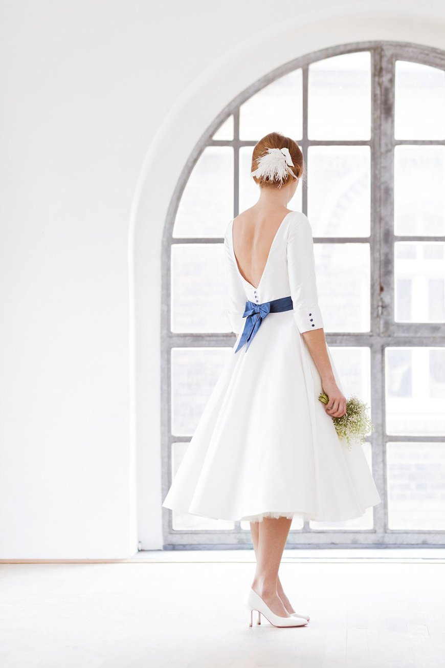 Wedding Ideas by Colour: Blue Wedding Dresses   CHWV