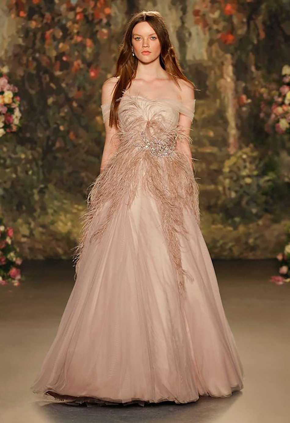 Wedding ideas by colour: blush wedding dresses