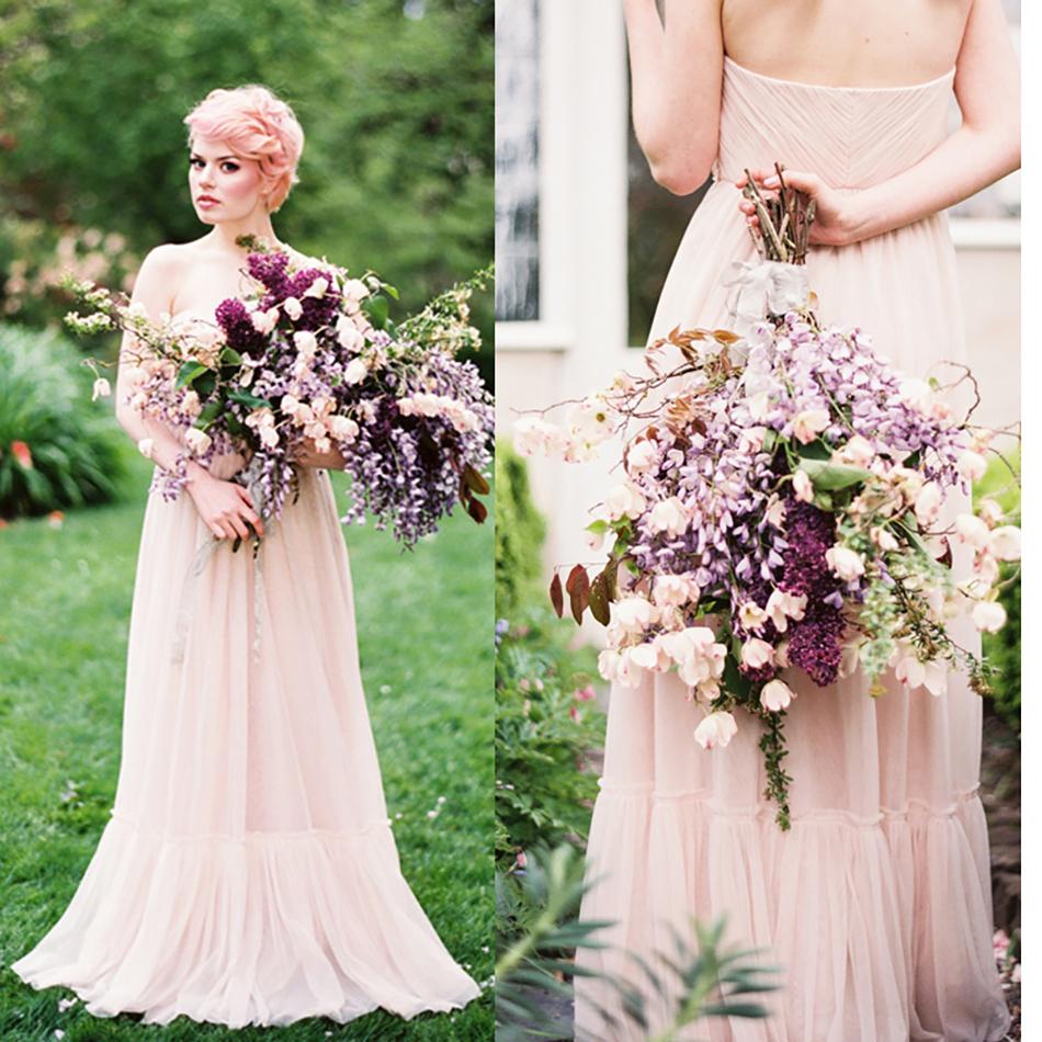Colour Wedding Gown: Blush Wedding Dresses