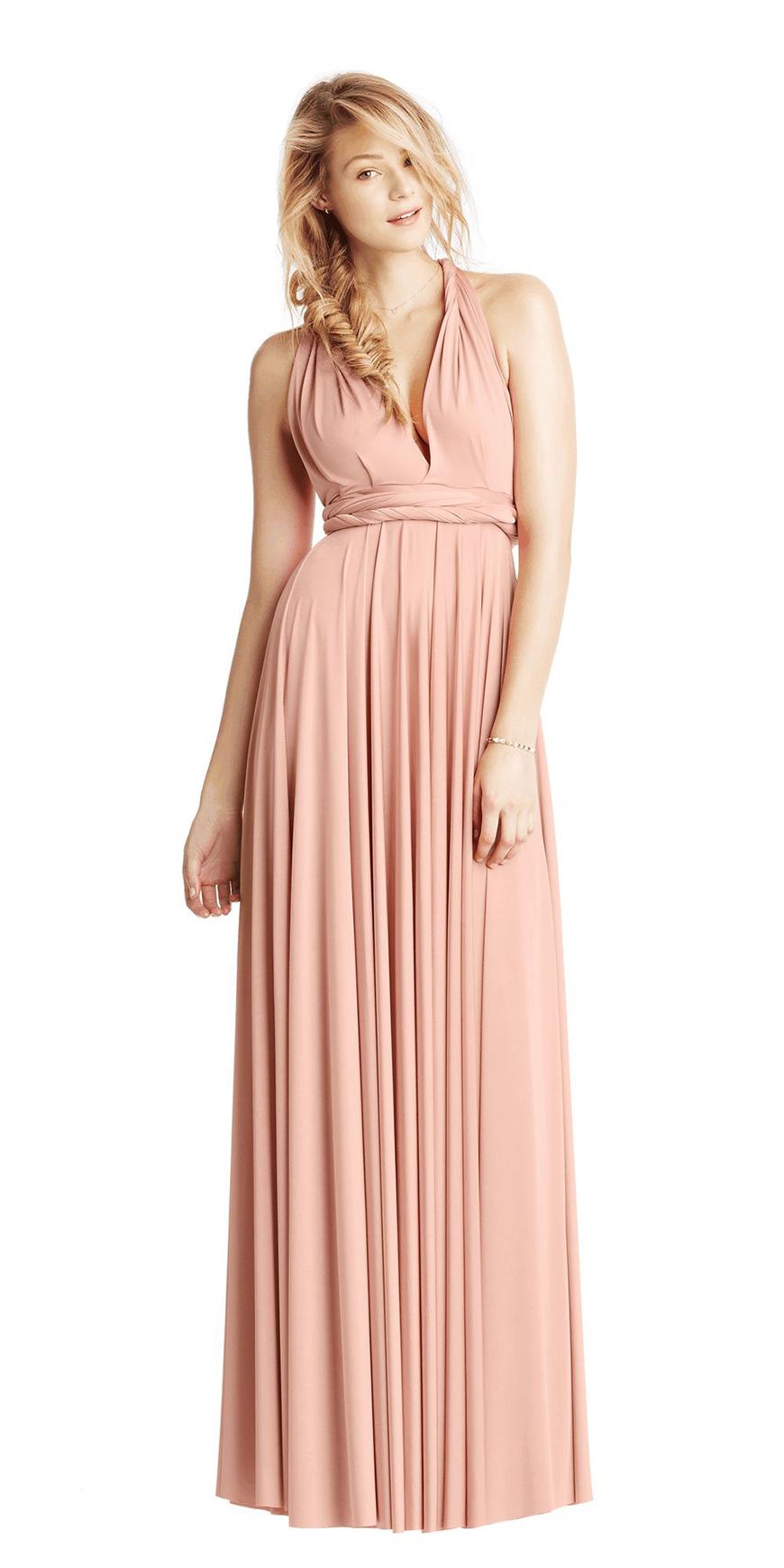 Blush Wedding Dress Grey Bridesmaids : Blush bridesmaid dresses wedding ideas by colour chwv