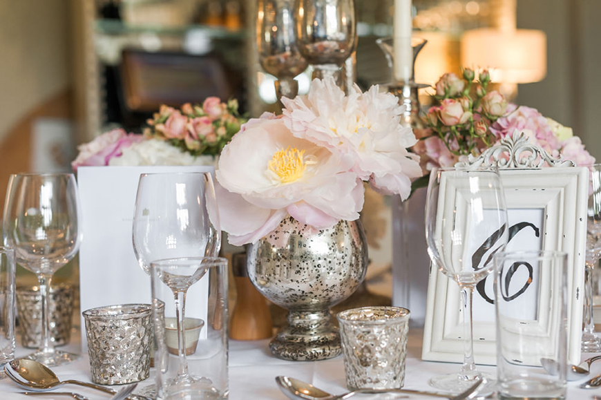 Wedding Ideas By Colour: Blush Wedding Theme - Table decorations | CHWV