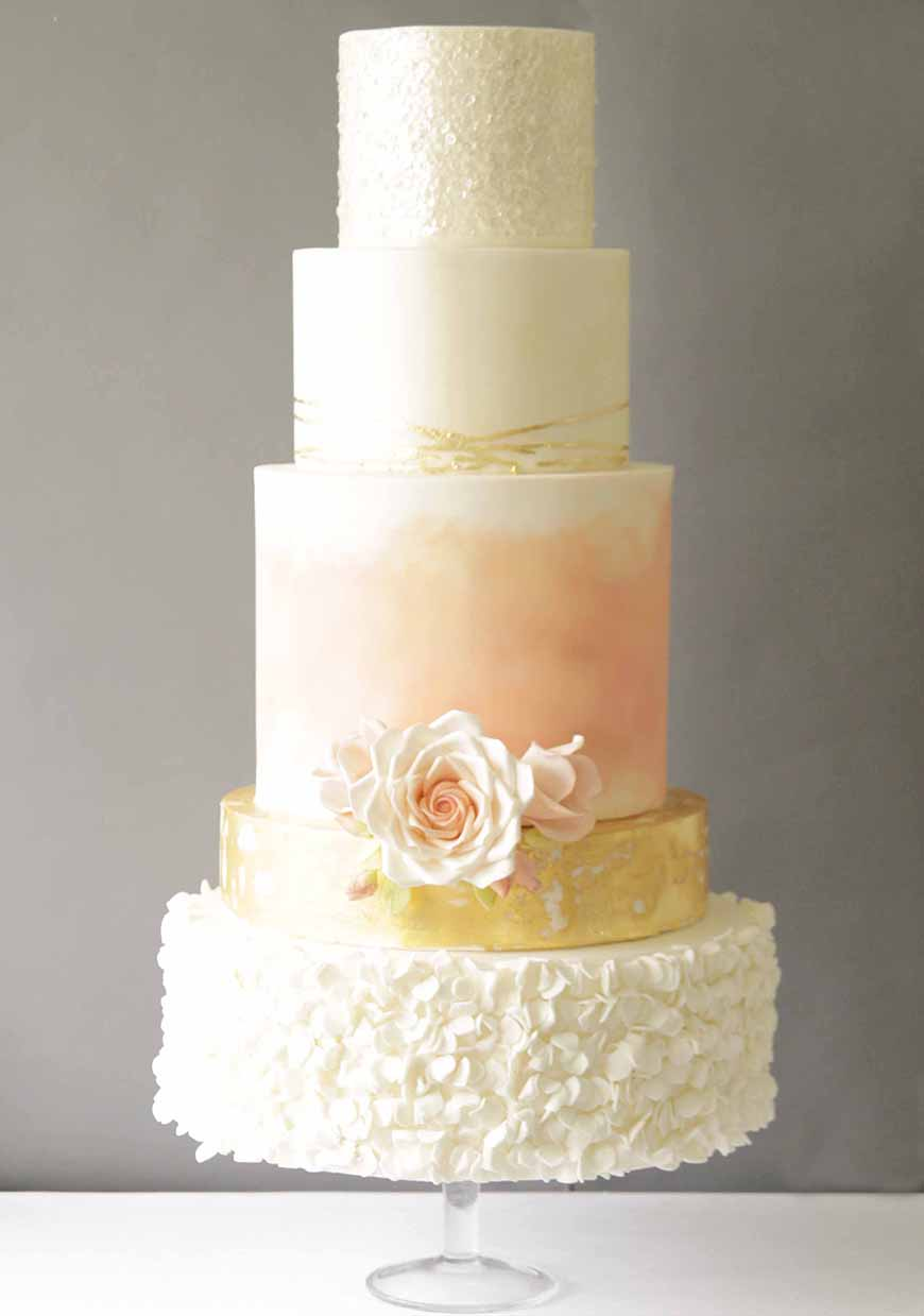 Wedding Ideas By Colour: Blush Wedding Theme - Cake | CHWV