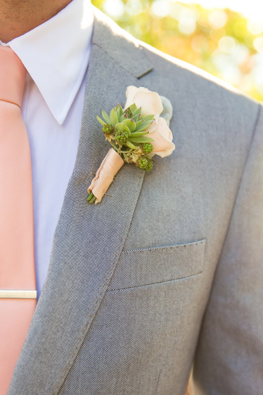 Wedding Ideas By Colour: Blush Wedding Theme - Stylish Groomswear | CHWV