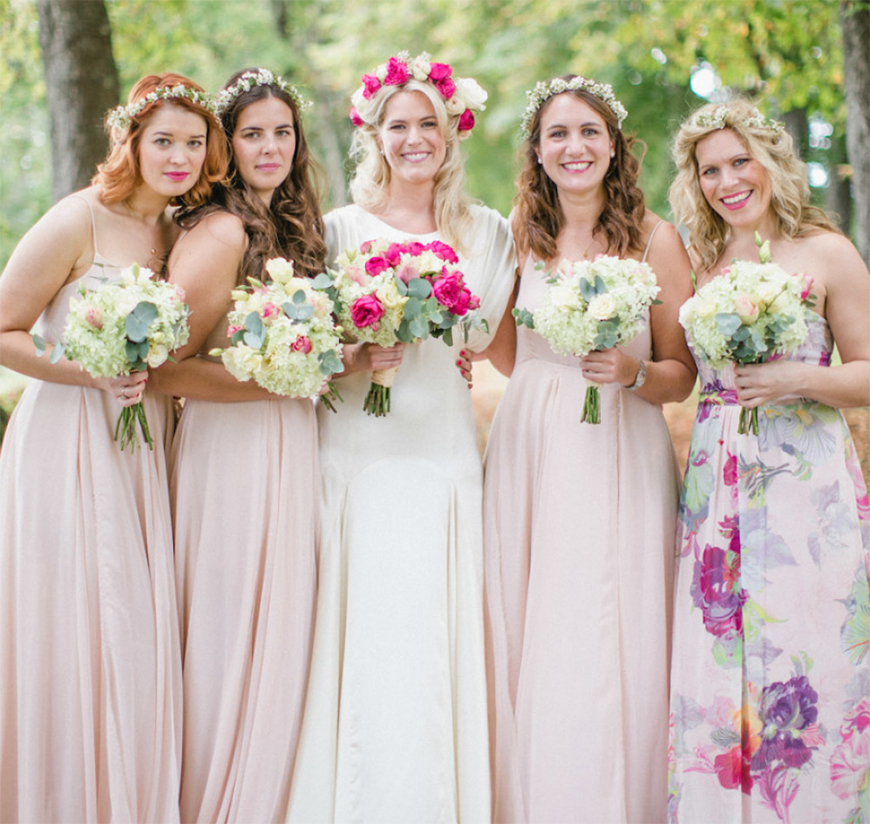 Wedding Ideas By Colour: Blush Wedding Theme - Brilliant bridesmaids | CHWV