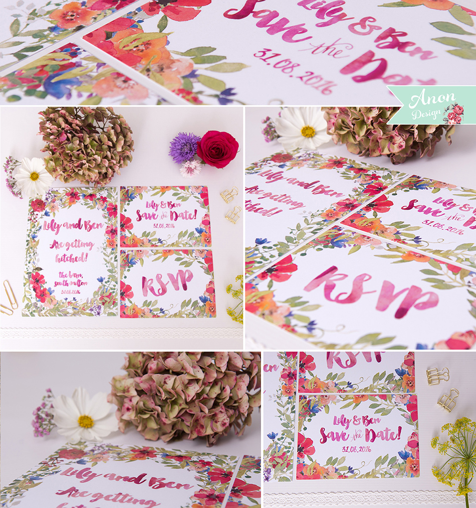 Bohemian Wedding Invitations - Floral | CHWV