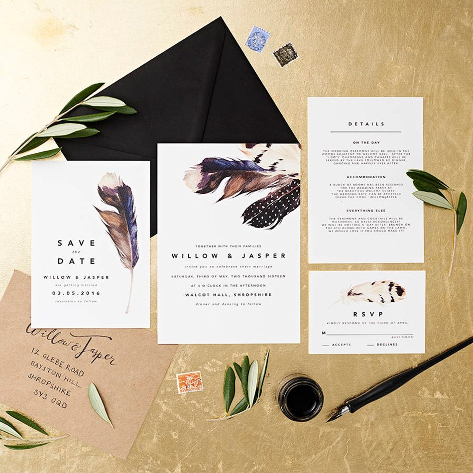 Wedding Ideas And Inspirations: Bohemian Wedding Invitations