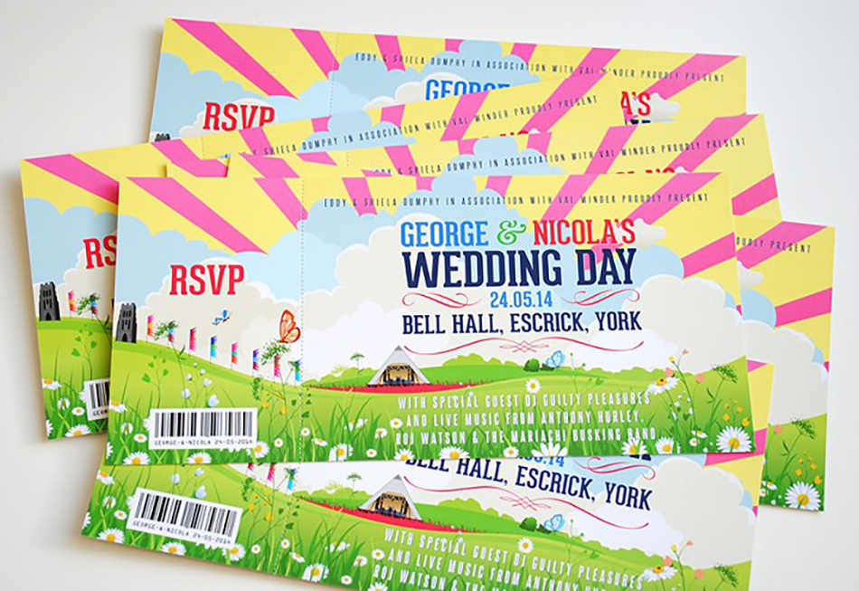 Bohemian Wedding Invitations - Festival | CHWV