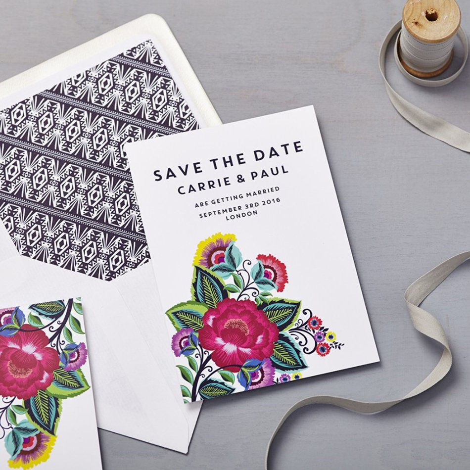 Bohemian Wedding Invitations - Flowers | CHWV