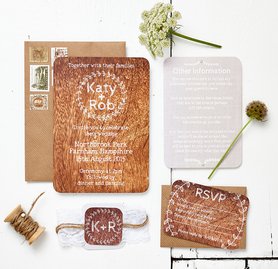 Bohemian Wedding Invitations - Forest | CHWV