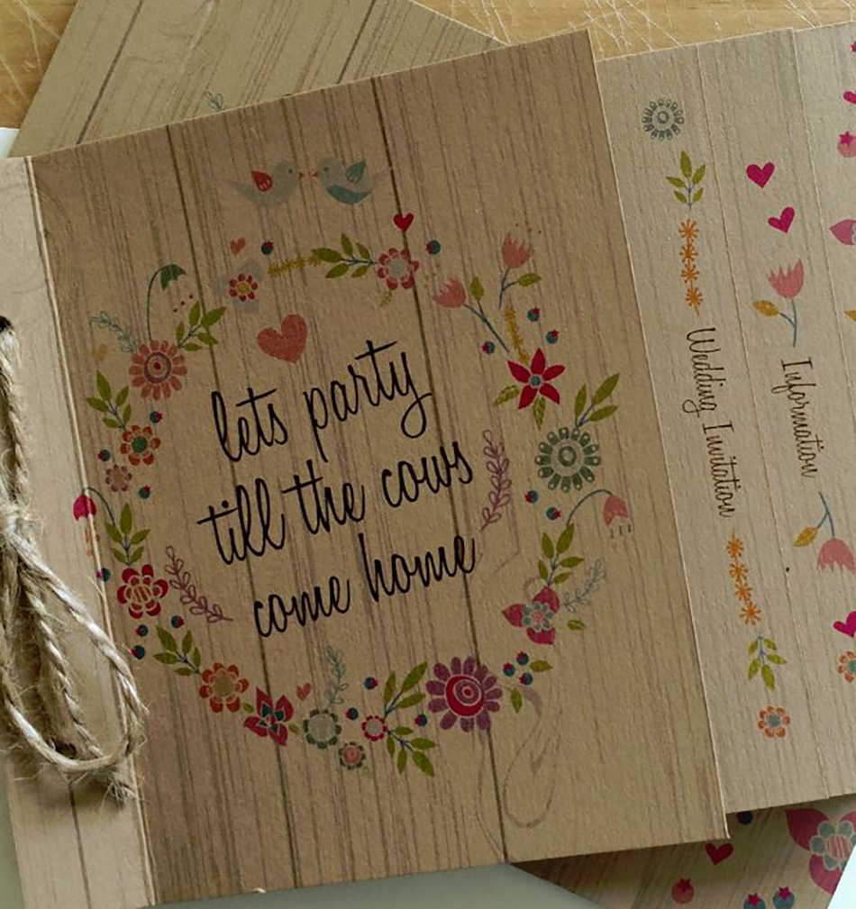 Bohemian Wedding Invitations - Natural | CHWV