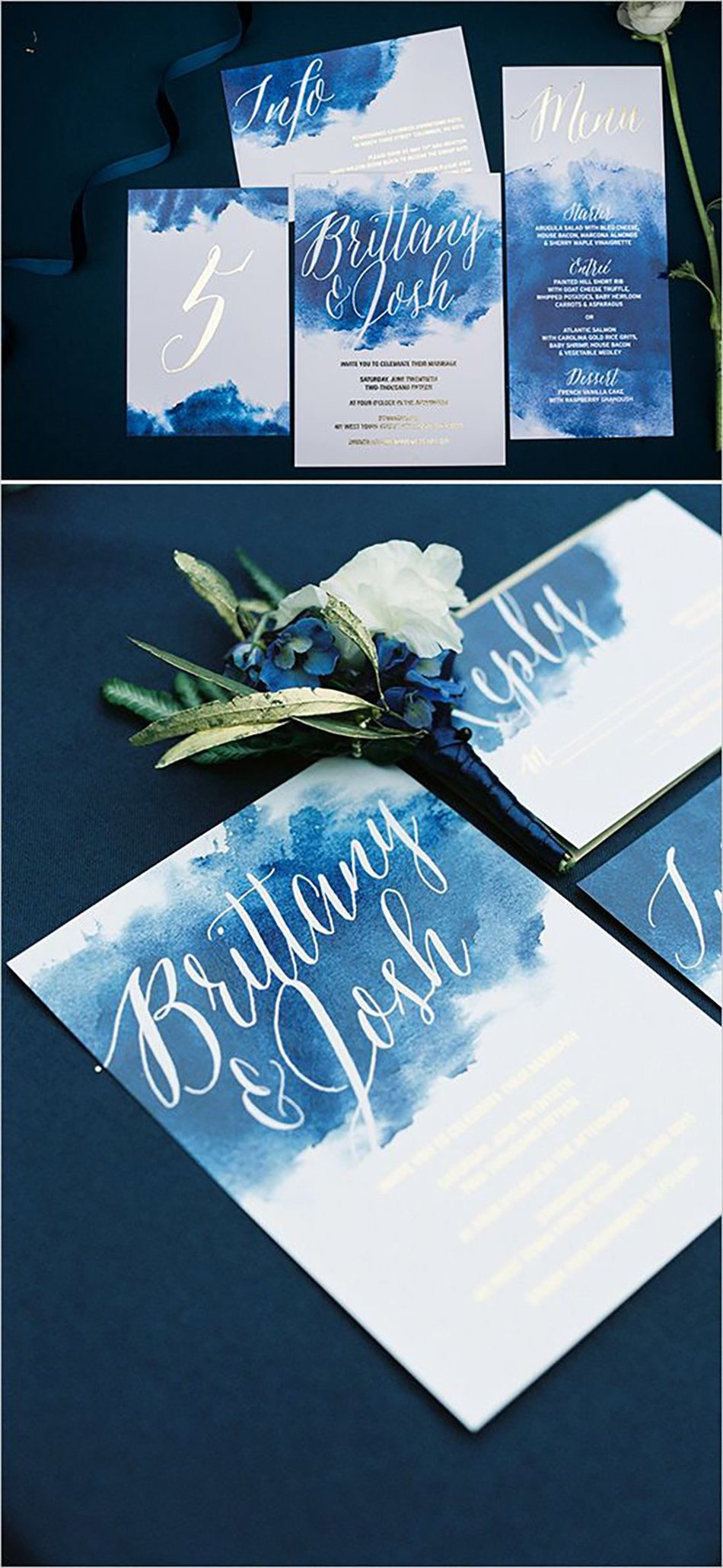 Bohemian Wedding Invitations - Watercolours | CHWV