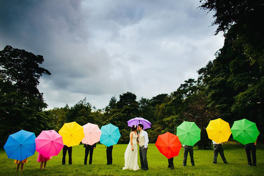 Wedding Ideas By Colour: Bright Wedding Accessories - Parasols | CHWV