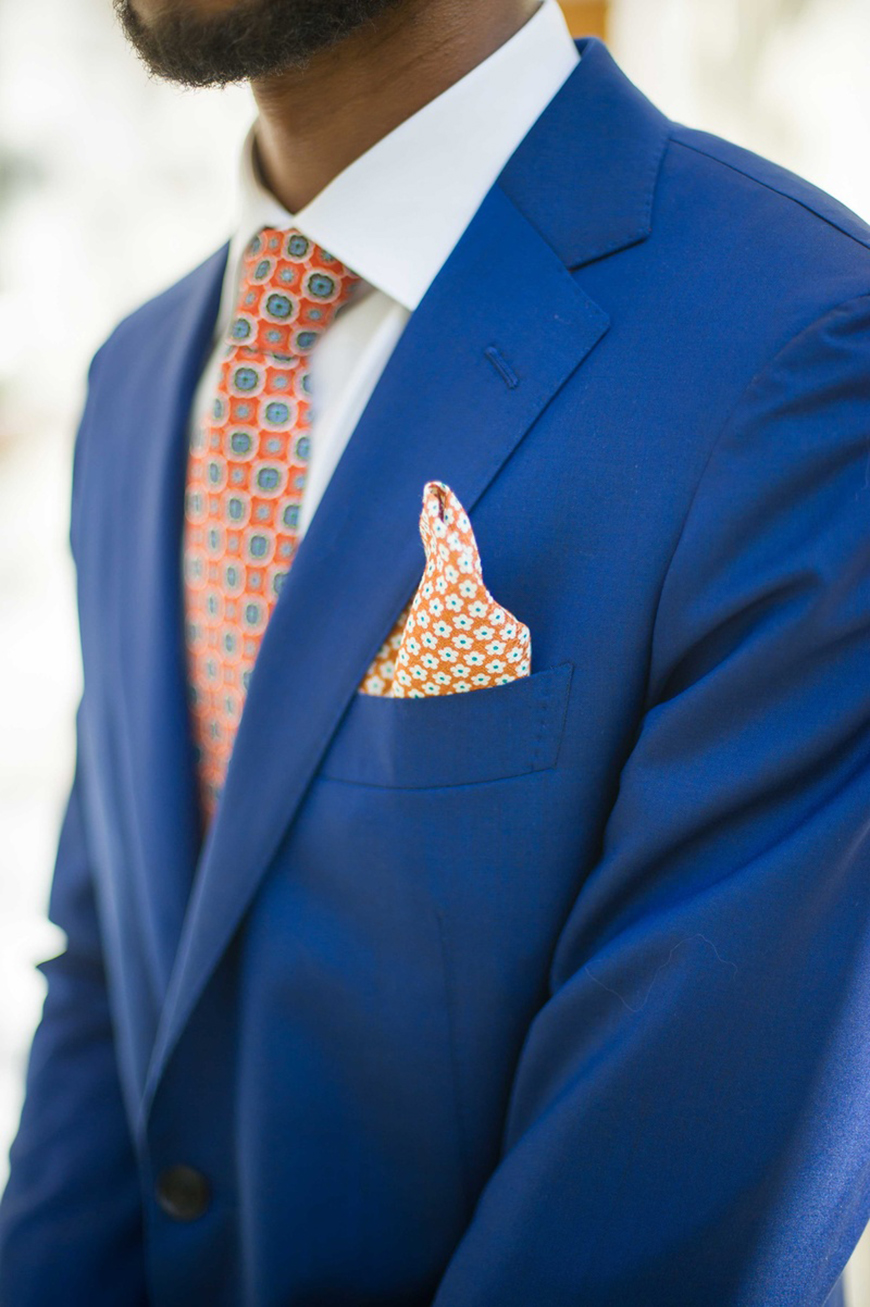 Wedding Ideas By Colour: Bright Wedding Accessories - Ties and pocket squares | CHWV