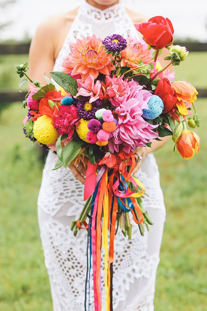 Wedding Ideas By Colour: Bright Wedding Accessories - Flowers | CHWV