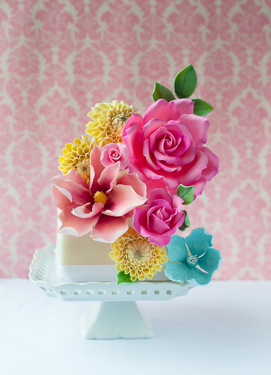 Wedding Ideas By Colour: Bright Wedding Cakes | CHWV